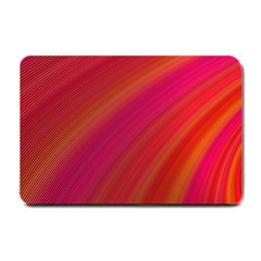 Abstract Red Background Fractal Small Doormat