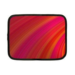 Abstract Red Background Fractal Netbook Case (small)  by Nexatart