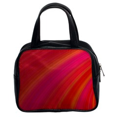 Abstract Red Background Fractal Classic Handbags (2 Sides) by Nexatart