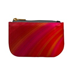 Abstract Red Background Fractal Mini Coin Purses