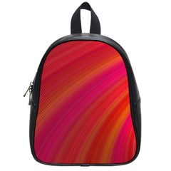 Abstract Red Background Fractal School Bag (small)