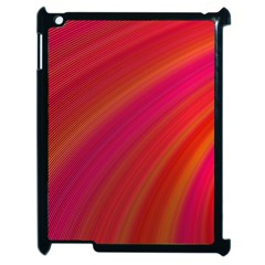 Abstract Red Background Fractal Apple Ipad 2 Case (black) by Nexatart