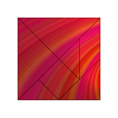 Abstract Red Background Fractal Acrylic Tangram Puzzle (4  X 4 )