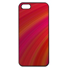 Abstract Red Background Fractal Apple Iphone 5 Seamless Case (black)