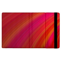Abstract Red Background Fractal Apple Ipad 2 Flip Case by Nexatart