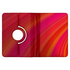Abstract Red Background Fractal Kindle Fire Hdx Flip 360 Case by Nexatart