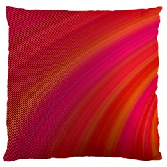 Abstract Red Background Fractal Large Flano Cushion Case (two Sides) by Nexatart