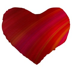 Abstract Red Background Fractal Large 19  Premium Flano Heart Shape Cushions