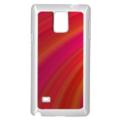 Abstract Red Background Fractal Samsung Galaxy Note 4 Case (white)