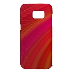 Abstract Red Background Fractal Samsung Galaxy S7 Edge Hardshell Case by Nexatart