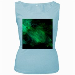 Green Space All Universe Cosmos Galaxy Women s Baby Blue Tank Top