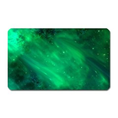 Green Space All Universe Cosmos Galaxy Magnet (rectangular)
