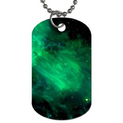 Green Space All Universe Cosmos Galaxy Dog Tag (one Side)