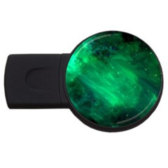Green Space All Universe Cosmos Galaxy Usb Flash Drive Round (4 Gb) by Nexatart