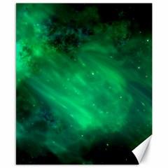 Green Space All Universe Cosmos Galaxy Canvas 8  X 10  by Nexatart
