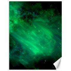 Green Space All Universe Cosmos Galaxy Canvas 12  X 16   by Nexatart