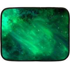 Green Space All Universe Cosmos Galaxy Fleece Blanket (mini)