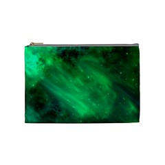 Green Space All Universe Cosmos Galaxy Cosmetic Bag (medium)