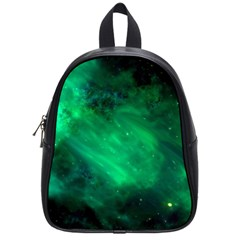 Green Space All Universe Cosmos Galaxy School Bag (small)