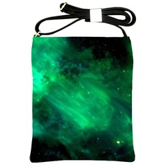 Green Space All Universe Cosmos Galaxy Shoulder Sling Bags by Nexatart