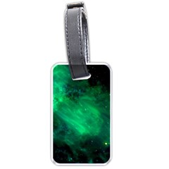 Green Space All Universe Cosmos Galaxy Luggage Tags (one Side)