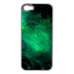 Green Space All Universe Cosmos Galaxy Apple Iphone 5 Case (silver) by Nexatart