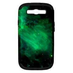 Green Space All Universe Cosmos Galaxy Samsung Galaxy S Iii Hardshell Case (pc+silicone)