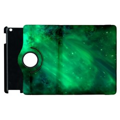 Green Space All Universe Cosmos Galaxy Apple Ipad 3/4 Flip 360 Case by Nexatart