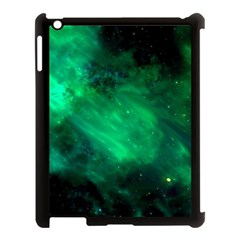 Green Space All Universe Cosmos Galaxy Apple Ipad 3/4 Case (black)