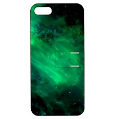 Green Space All Universe Cosmos Galaxy Apple Iphone 5 Hardshell Case With Stand