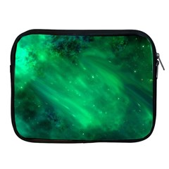 Green Space All Universe Cosmos Galaxy Apple Ipad 2/3/4 Zipper Cases