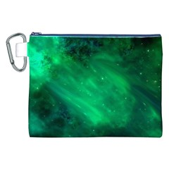Green Space All Universe Cosmos Galaxy Canvas Cosmetic Bag (xxl)