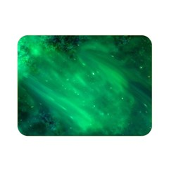 Green Space All Universe Cosmos Galaxy Double Sided Flano Blanket (mini)