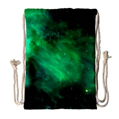 Green Space All Universe Cosmos Galaxy Drawstring Bag (large) by Nexatart