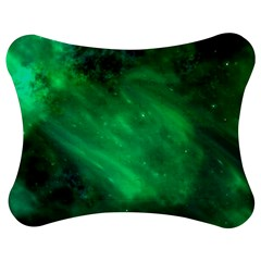 Green Space All Universe Cosmos Galaxy Jigsaw Puzzle Photo Stand (bow)