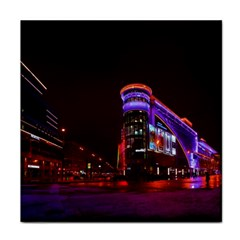 Moscow Night Lights Evening City Tile Coasters