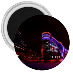 Moscow Night Lights Evening City 3  Magnets