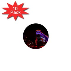 Moscow Night Lights Evening City 1  Mini Buttons (10 Pack)