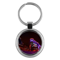 Moscow Night Lights Evening City Key Chains (round)