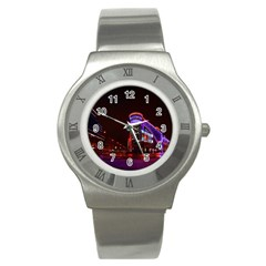 Moscow Night Lights Evening City Stainless Steel Watch