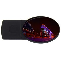 Moscow Night Lights Evening City Usb Flash Drive Oval (4 Gb) by Nexatart