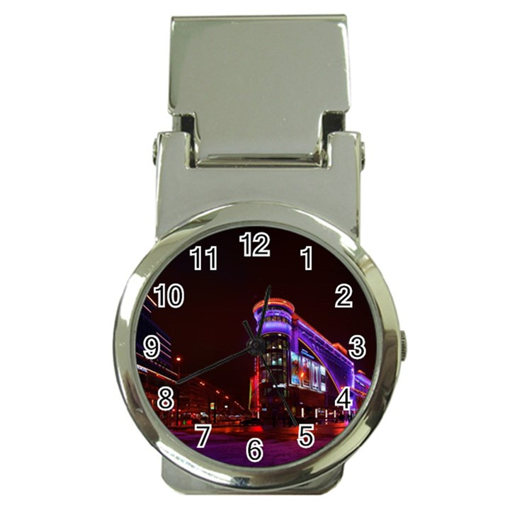 Moscow Night Lights Evening City Money Clip Watches