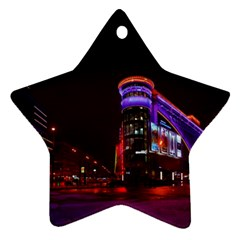 Moscow Night Lights Evening City Star Ornament (two Sides)
