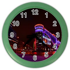 Moscow Night Lights Evening City Color Wall Clocks