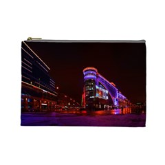 Moscow Night Lights Evening City Cosmetic Bag (large)