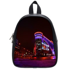 Moscow Night Lights Evening City School Bag (small)