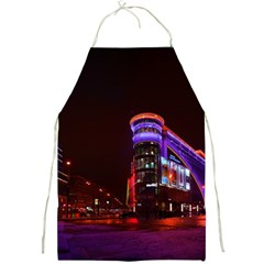 Moscow Night Lights Evening City Full Print Aprons by Nexatart
