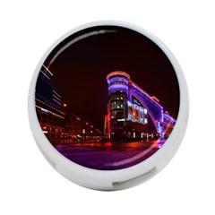 Moscow Night Lights Evening City 4 Port Usb Hub (two Sides)