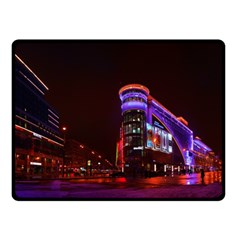 Moscow Night Lights Evening City Fleece Blanket (small)