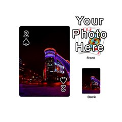 Moscow Night Lights Evening City Playing Cards 54 (mini)  by Nexatart